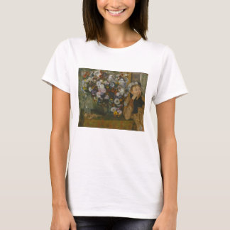 A Woman Seated beside a Vase of Flowers T-Shirt
