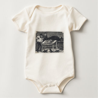 A woman who gave birth baby bodysuit