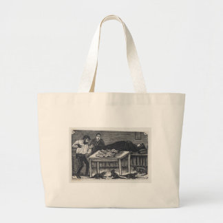 A woman who gave birth large tote bag