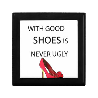 a woman with good shoes gift box