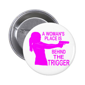 A WOMAN'S PLACE 2 INCH ROUND BUTTON
