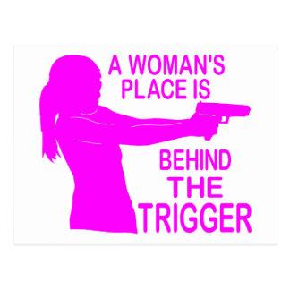 A WOMAN'S PLACE POSTCARD