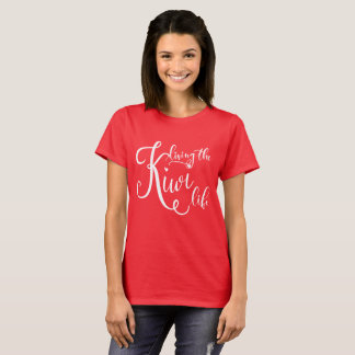 A Women's Red T-Shirt - Living the Kiwi Life