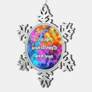 A Wonderful Hope Snowflake Pewter Christmas Ornament