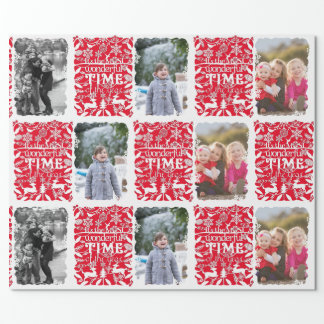 A Wonderful Time of the Year Christmas Photo Wrapping Paper