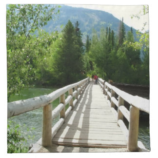 A wooden bridge in Grand Teton National Park. Napkin