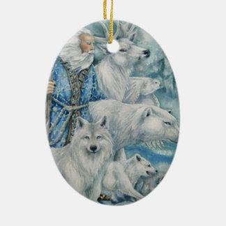 A Woodland Christmas Ceramic Ornament