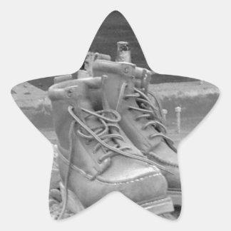 A Working Man's Boots Star Sticker