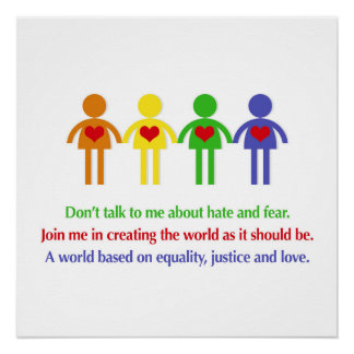 A World Based on Equality, Justice and Love Perfect Poster