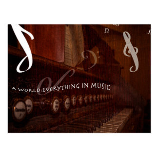 A world everything in music cartes postales