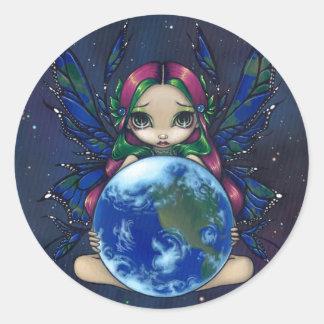 """A World in Good Hands"" Sticker"