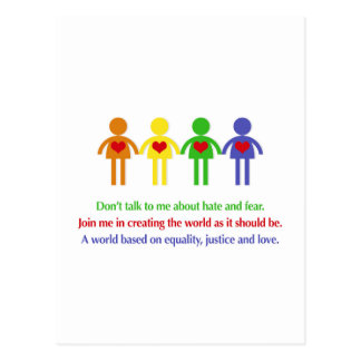 A World of Equality, Justice and Love Postcard