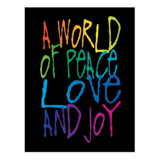 A World of Peace, Love, and Joy Postcard