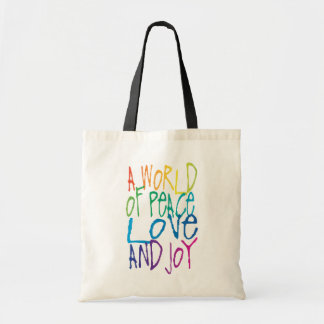 A World of Peace, Love, and Joy Tote Bag