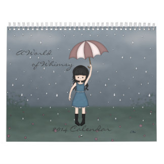 A World of Whimsy Cute Girls Illustrations 2014 Calendars