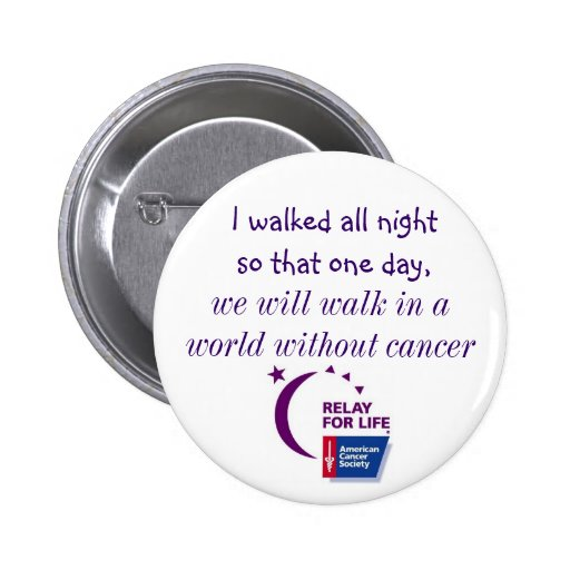A World Without Cancer Pinback Buttons