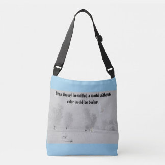 A world without color crossbody bag