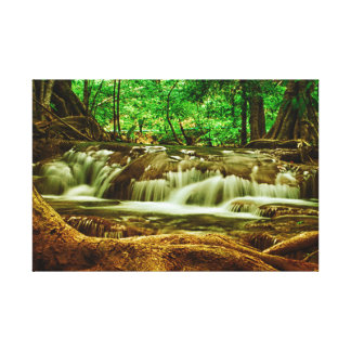A wrapped canvas of a gorgeous waterfall
