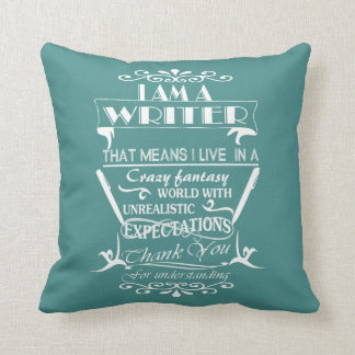 A Writer's World Throw Pillow