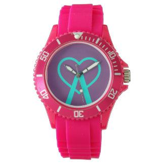 A&X Pink A~Heart Watch