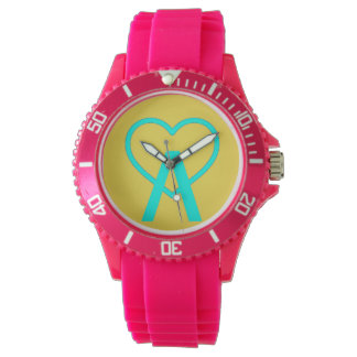 A&Y Pink A~Heart Watch