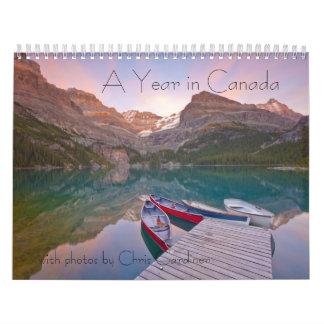 A Year in Canada 12 Month Calendar