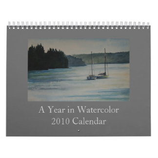 A Year in Watercolor - 2010 Calendar