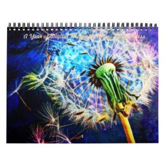 """A Year of Digital Magic by Missi Lynn Boness"" Wall Calendars"