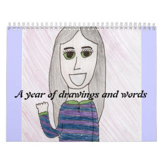 a year of drawigns and words wall calendar