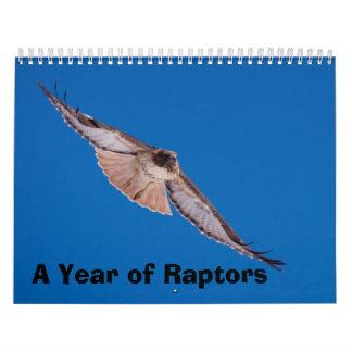 A Year of Raptors Wall Calendar