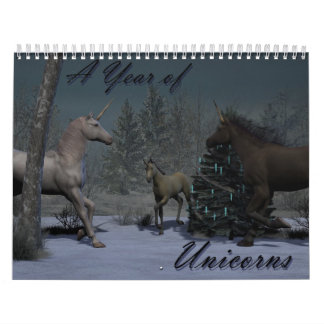 A Year of Unicorns Calendar