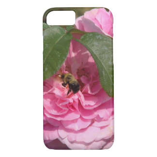 A Yellow Jacket On A Pink Flower iPhone 8/7 Case