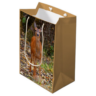 A Young Black-Tailed Deer Smiles Medium Gift Bag