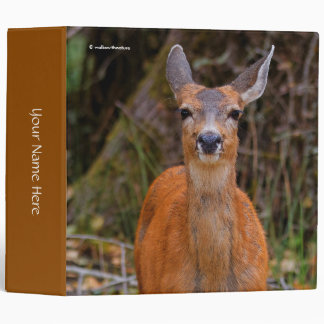 A Young Black-Tailed Deer Smiles Vinyl Binder