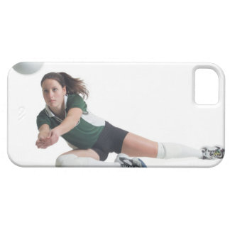 a young caucasian female volleyball player in a iPhone 5 case