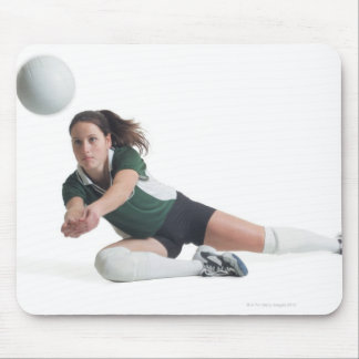 a young caucasian female volleyball player in a mouse pad