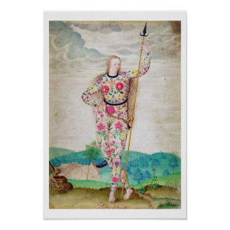 A Young Daughter of the Picts, c.1585 (w/c and gou Poster