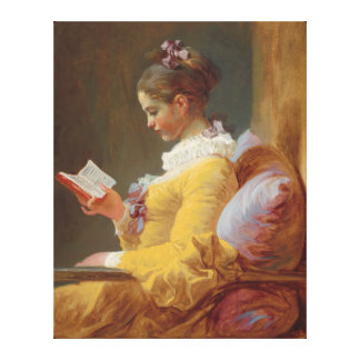 A Young Girl Reading, The Reader by J. Fragonard Canvas Print