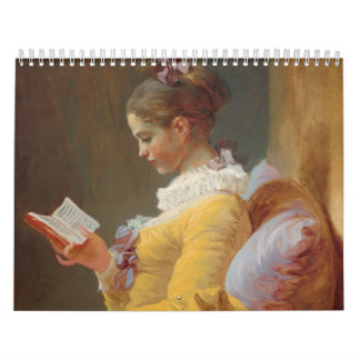 A Young Girl Reading, The Reader by J. Fragonard Wall Calendars