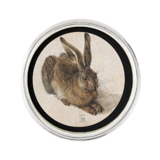 A Young Hare Lapel Pin