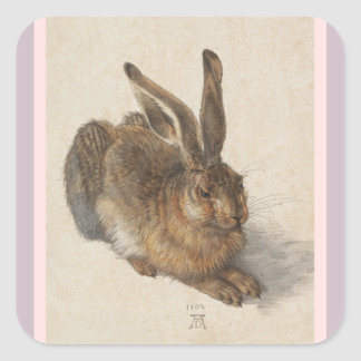 A Young Hare Square Sticker