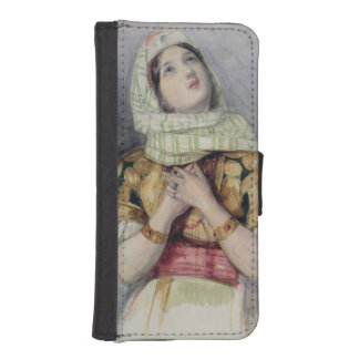 A Young Lady in Turkish Dress (w/c over pencil on iPhone SE/5/5s Wallet Case