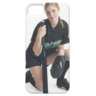 a young smiling caucasian woman is wearing a iPhone 5 cases