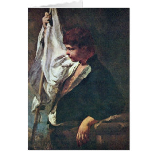 A Young Standard-Bearer By Giambattista Piazzetta Cards