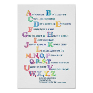 A, you're adorable Nursery Alphabet Poster-Delight Poster