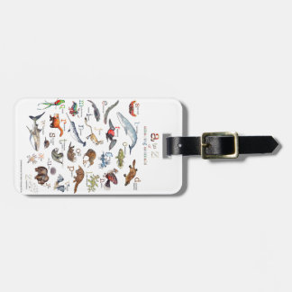 A-Z of amazing animals Luggage Tag