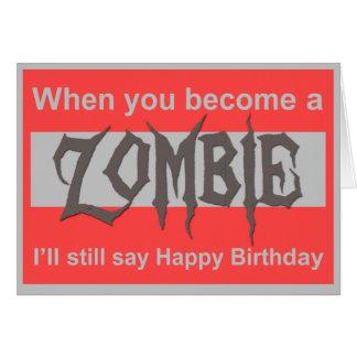 A Zombie Happy Birthday card