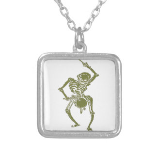 A Zombie Undead Skeleton Marching and Beating A Dr Custom Necklace