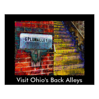 AA137P, Visit Ohio's Back Alleys Poster