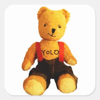 AA511A-Teddy-Yolo-light-Pattern-no-BG-cut-transpar Square Sticker